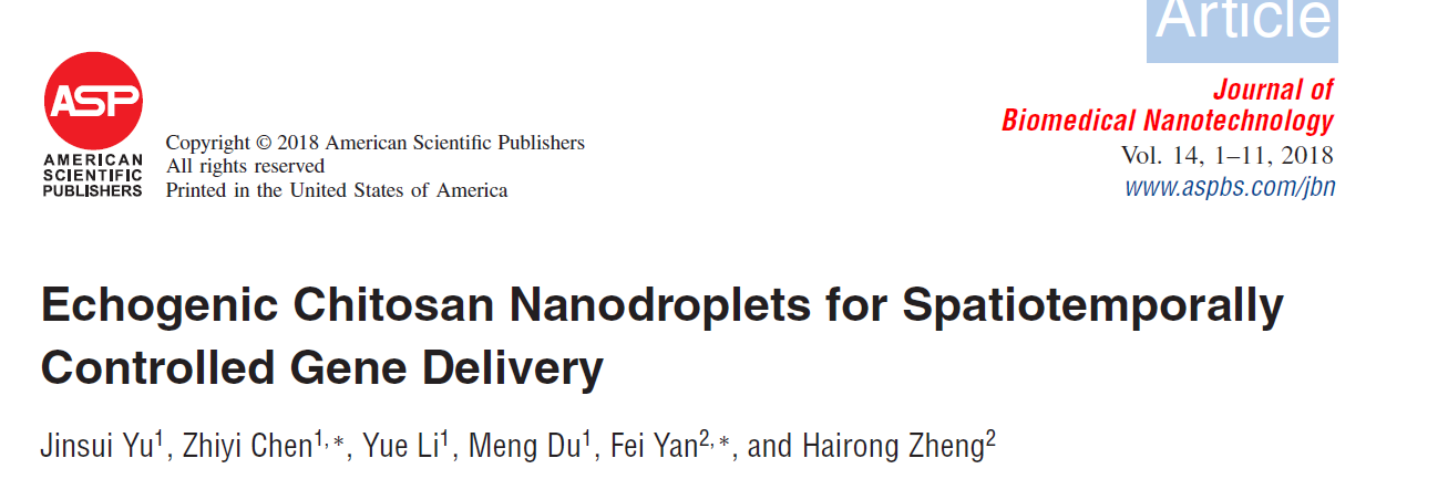 Echogenic Chitosan Nanodroplets for Spatiotemporally Controlled Gene Delivery
